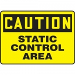 "Accuform MELC660XT, 7″ x 10″ Safety Sign ""Static Control Area"""