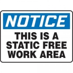 """Accuform MELC807XT10, 10″ x 14″ Safety Sign """"This Is A Static …"""""""