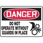 """Accuform MEQM025XV10, 7″ x 10″ Safety Sign """"Do Not Operate …"""""""
