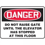 "Accuform MEQM037XF10, 10″ x 14″ Safety Sign ""Do Not Raise Gate …"""