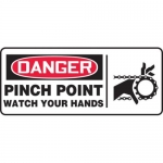 """Accuform MEQM038XV10, 7″ x 17″ Safety Sign """"Pinch Point …"""""""