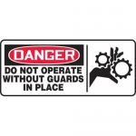 """Accuform MEQM041XV10, 7″ x 17″ Safety Sign """"Do Not Operate …"""""""