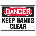 """Accuform MEQM049XV10, 7″ x 10″ Safety Sign """"Keep Hands Clear"""""""