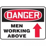 """Accuform MEQM061XV10, 7″ x 10″ Safety Sign """"Men Working Above"""""""