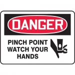 """Accuform MEQM069XV10, 5″ x 7″ Safety Sign """"Pinch Point …"""""""