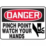 """Accuform MEQM072XV10, 7″ x 10″ Safety Sign """"Pinch Point …"""""""