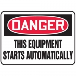 """Accuform MEQM083XV10, 7″ x 10″ Safety Sign """"This Equipment …"""""""