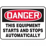 """Accuform MEQM087XV10, 7″ x 10″ Safety Sign """"This Equipment …"""""""