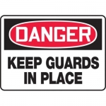 """Accuform MEQM091XV10, 7″ x 10″ Safety Sign """"Keep Guards In Place"""""""