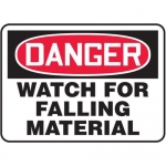 """Accuform MEQM095XV10, 7″ x 10″ Safety Sign """"Watch For Falling …"""""""