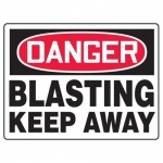 "Accuform MEQM096XF10, 18″ x 24″ Safety Sign ""Blasting – Keep Away"""