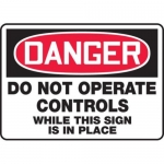 "Accuform MEQM102XT10, 10″ x 14″ Safety Sign ""Do Not Operate …"""
