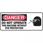 """Accuform MEQM105XV10, 7″ x 17″ Safety Sign """"Do Not Operate …"""""""