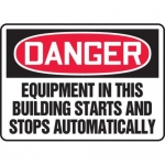 """Accuform MEQM107XV10, 10″ x 14″ Safety Sign """"Equipment In …"""""""
