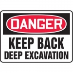 """Accuform MEQM110XV10, 10″ x 14″ Safety Sign """"Keep Back …"""""""