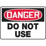 """Accuform MEQM111VS10, 10″ x 14″ Safety Sign """"Do Not Use"""""""