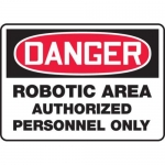 """Accuform MEQM113XV10, 7″ x 10″ Safety Sign """"Robotic Area …"""""""