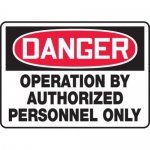 """Accuform MEQM117XV10, 10″ x 14″ Safety Sign """"Operation By …"""""""