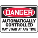 "Accuform MEQM126XT10, 10″ x 14″ Safety Sign ""Automatically …"""