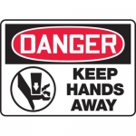 """Accuform MEQM137XV10, 10″ x 14″ Safety Sign """"Keep Hands Away"""""""