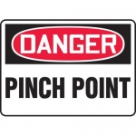 """Accuform MEQM138VS10, 10″ x 14″ Safety Sign """"Pinch Point"""""""