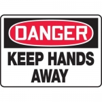 """Accuform MEQM140XV10, 10″ x 14″ Safety Sign """"Keep Hands Away"""""""