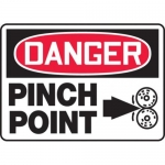 """Accuform MEQM143XV10, 10″ x 14″ Safety Sign """"Pinch Point"""""""