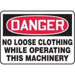 """Accuform MEQM145XV10, 7″ x 10″ Safety Sign """"No Loose Clothing …"""""""
