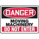 """Accuform MEQM149XV10, 10″ x 14″ Safety Sign """"Moving Machinery …"""""""