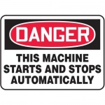 """Accuform MEQM150XV10, 7″ x 10″ Safety Sign """"This Machine Starts …"""""""
