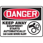 """Accuform MEQM151XT10, 10″ x 14″ Safety Sign """"Keep Away …"""""""
