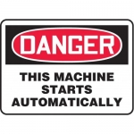 """Accuform MEQM153XV10, 7″ x 10″ Safety Sign """"This Machine …"""""""