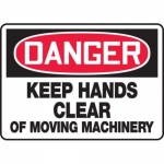 """Accuform MEQM160XV10, 10″ x 14″ Safety Sign """"Keep Hands …"""""""