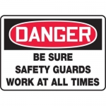 """Accuform MEQM163XV10, 10″ x 14″ Safety Sign """"Be Sure Safety …"""""""