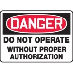"""Accuform MEQM165XV10, 10″ x 14″ Safety Sign """"Do Not Operate …"""""""