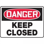 """Accuform MEQM171VS10, 10″ x 14″ Safety Sign """"Keep Closed"""""""