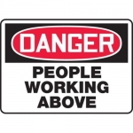 """Accuform MEQM172XV10, 10″ x 14″ Safety Sign """"People Working Above"""""""