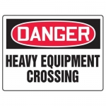 "Accuform MEQM177XF10, 18″ x 24″ Safety Sign ""Heavy Equipment Crossing"""