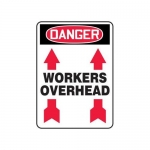 """Accuform MEQM185XV10, 14″ x 10″ Safety Sign """"Workers Overhead"""""""