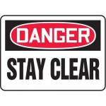 """Accuform MEQM190XV10, 7″ x 10″ Safety Sign """"Stay Clear"""""""