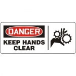 """Accuform MEQM192XV10, 7″ x 17″ Safety Sign """"Keep Hands Clear"""""""