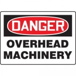 """Accuform MEQM202XV10, 10″ x 14″ Safety Sign """"Overhead Machinery"""""""