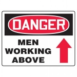"Accuform MEQM225XF10, 18″ x 24″ Safety Sign ""Men Working Above"""