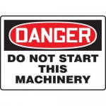 """Accuform MEQM230XV10, 7″ x 10″ Safety Sign """"Do Not Start This …"""""""