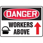 """Accuform MEQM234XV10, 7″ x 10″ Safety Sign """"Workers Above"""""""