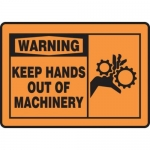 """Accuform MEQM304XV10, 7″ x 10″ Safety Sign """"Keep Hands …"""""""