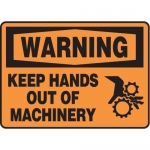 """Accuform MEQM306XV10, 10″ x 14″ Safety Sign """"Keep Hands Out of …"""""""