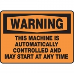 "Accuform MEQM322XT10, 10″ x 14″ Safety Sign ""This Machine …"""