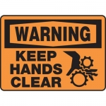 """Accuform MEQM324XV10, 10″ x 14″ Safety Sign """"Keep Hands Clear"""""""