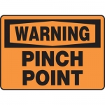 """Accuform MEQM326XV10, 10″ x 14″ Safety Sign """"Pinch Point"""""""
